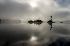 Islands in the mist 1 - Foggy morning on Lake Temagami