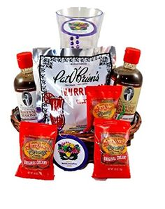 New Orleans Spirit Gourmet Gift Basket *** Visit the image link more details. (This is an affiliate link) Bloody Mary Mix, Cocktail Mixers, Gourmet Gift Baskets, Gourmet Recipes, New Orleans, The Cure, Image Link, Cocktails, Spirit
