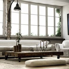 low cushion seating area..