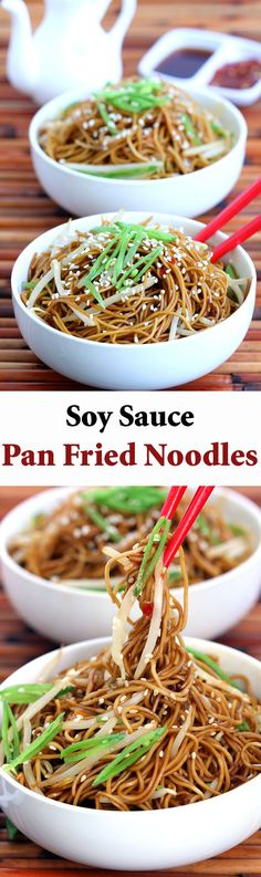 This classic Cantonese soy sauce pan fried noodles is amazingly tasty for a dish so simple and easy to make. Perfect dish for a busy week!