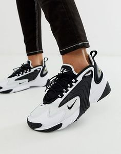 new arrival 45b92 f0488 Nike Zoom 2K trainers in white and black White Sneakers, Air Max Sneakers,  Sneakers