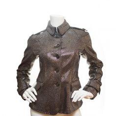 Burberry Metallic Leather Jacket #burberry #leather #leatherjacket