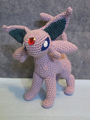 Ravelry: Espeon pattern by The Nerdy Knitter  $4.95