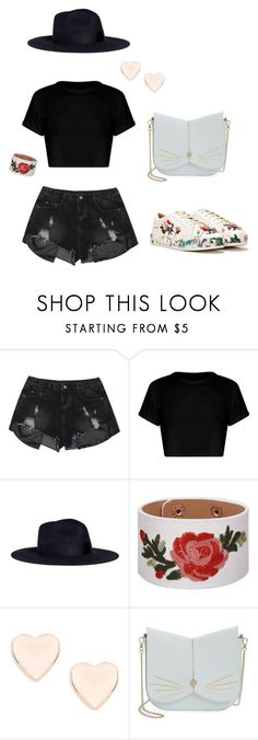 Black n roses by laura-paasivirta on Polyvore featuring Nasty Gal, Ted Baker, Sensi Studio, Summer, black and pastel