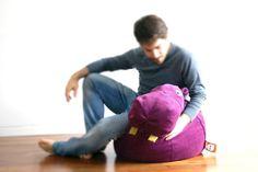 Purple Hippopotamus bean bag from il Saccotto MADE IN ITALY by DaWanda.com