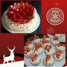 Strawberry Mostachon / Cake / Cupcakes for Christmas Night