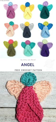 How To Crochet An Angel Christmas Decoration - Free Pattern Angel Free Crochet Pattern Angels are one of the most recognizable and important Christmas symbols. They are believed to. Crochet Christmas Decorations, Crochet Christmas Ornaments, Christmas Crochet Patterns, Holiday Crochet, Crochet Gifts, Cute Crochet, Easy Crochet, Handmade Ornaments, Crochet Decoration