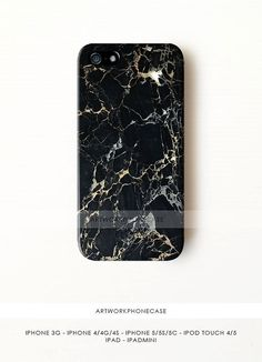 Black Marble Granite Ceramics Floor Texture iPhone 5 Case - iPhone 3 Cover, Marble iPhone Case Series