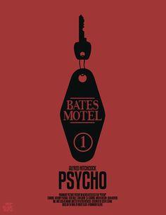 Psycho (1960) ~ Minimal Movie Poster by Mario Graciotti ~ Hitchcock Series #amusementphile