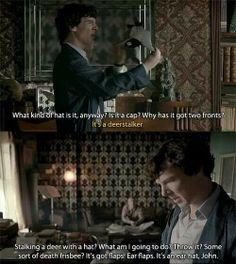 Sherlock vs the death frisbee