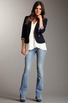 frankie b. Desire F Slim Bootcut Jeans.. Love this casual look