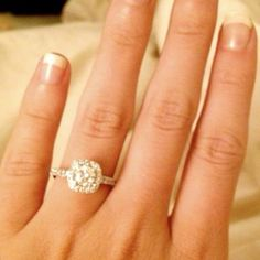 engagement ring!!! cushion cut with halo and skinny band