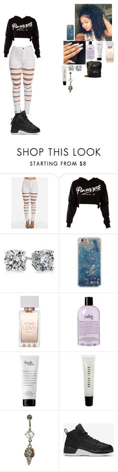 """~ back to black ~"" by foodislyfe ❤ liked on Polyvore featuring Blue Nile, philosophy, Bobbi Brown Cosmetics, NIKE and Chanel"