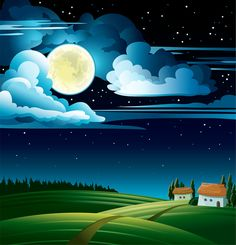 Find Summer Night Full Moon Stars On stock images in HD and millions of other royalty-free stock photos, illustrations and vectors in the Shutterstock collection. Thousands of new, high-quality pictures added every day. Cartoon Background, Vector Background, Marianne Design, Pastel Art, Drawing For Kids, Stars And Moon, Wallpaper Backgrounds, Landscape Paintings, Landscapes