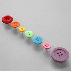 button thumbtacks...real cute for bulletin boards