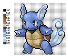This is the pattern I used to make the Pokemon Wartortle. A = Artkal Beads H = Hama Beads