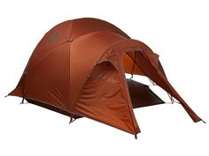 Cheap tents might not survive your next trip to Yellowstone. The Big Agnes Royal Flush 3 mountaineering tent uses Cordura fabric that's coated with a silicone treatment and a 1200-mm polyurethane coating. The poles are made from TH72M aluminum to make them more durable. Even the seams are recoated with waterproof polyurethane. This 8-pounder is designed for serious backpackers—or people who never want to buy another tent.