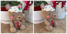 Osito navideño gingerbread man | CrochetyAmigurumis.com Crochet Gratis, Gingerbread Man, Jar, Home Decor, Handmade Decorations, Magic Ring, How To Sew, Bullion Embroidery, Felting