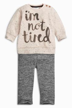 Buy Pink Slogan Top And Leggings Set from the Next UK online shop Latest Fashion For Women, Mens Fashion, Slogan Tops, Leggings, Uk Online, Cute Babies, T Shirts For Women, Rose, Budget