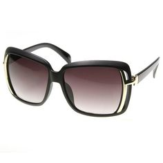 Womens Fashion Oversized Square Cut-Out Frame Sunglasses (Matte Black) FRAMEWORK. $9.99. Designer Inspired Frame. Polycarbonate Lens. Standard. Lens height: 48 millimeters. Only from Triple Optic will you receive a 100% Satisfaction Guarantee, unrivaled Customer Care, unconditional Full Warranty policy, and a free microfiber pouch included with every pair.. Unique Cut-Out Sides. plastic frame. plastic lens. Bridge: 16 millimeters. U.S. Standard ANSI Z80.3-2001 | CE C...