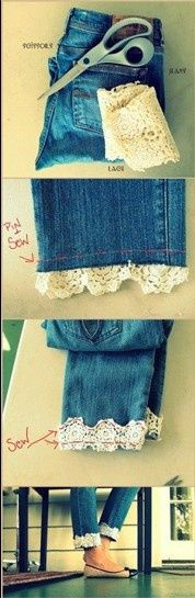 DIY jeans with