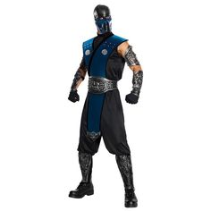 Mortal Kombat Subzero Costume - Adult, Men's, Multicolor