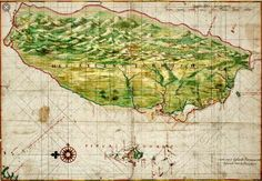"""Oops, if Taiwan was not 'Formosa' which island were the Portuguese actually referring to?A scholar at Academia Sinica claims that the island Portuguese sailors referred to as """"Formosa"""" was not actually Taiwan, but Okinawa instead. Vintage Maps, Antique Maps, Taiwan, Portuguese Empire, Asia Map, Old Maps, Map Design, Historical Maps, Birds Eye View"""