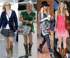 How celebrities wear cowboy boots
