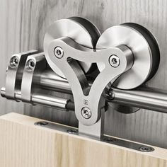 Rolling door hardware is another kind of barn door that is growing in popularity. Sliding Door Mechanism, Sliding Door Systems, Sliding Closet Doors, Sliding Wardrobe, Wardrobe Doors, Garage Doors, Sliding Wall, Interior Barn Door Hardware, Sliding Barn Door Hardware