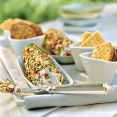 Host a British-Style Tea   Cream Cheese-Olive Spread   SouthernLiving.com