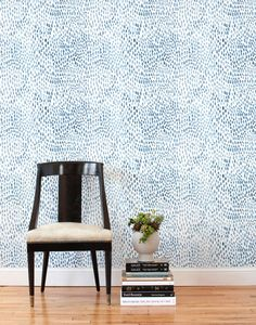 This removable wallpaper tile is designed by Lina Rennell in Northern California and printed in Chicago on a matte, polyester wall fabric.
