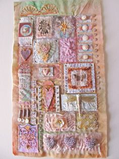Beautiful piece by Beryl Taylor. Stitching on paper & fabric. The Quilting Blog