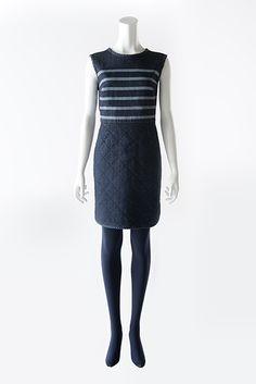 BORDERS at BALCONY #DENIM DRESS B-6 #2013AW #bordersatbalcony #border #dress Balcony, Denim, Crafts, Collection, Dresses, Fashion, Terrace, Gowns, Moda