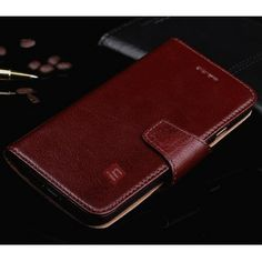 Luxury Head Layer Cowhide Genuine Leather Flip Stand Case for iPhone 6 - Wine Red US$20.69
