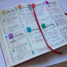 Easy Bullet Journal Ideas To Well Organize & Accelerate Your Ambitious Goals Bullet Journal Décoration, Minimalist Bullet Journal, Bullet Journal Organisation, Planner Organization, College Organization, Planner 2018, Life Planner, Weekly Planner, Journal Layout