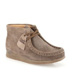 Boys Wallabee Boot Toddler Taupe Distressed Suede - Clarks Originals Boys Shoes - Clarks® Shoes