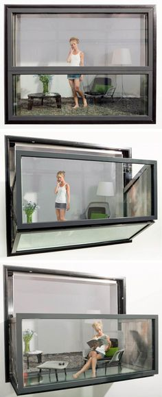 Bloom Frame Balcony: window that turns into a balcony