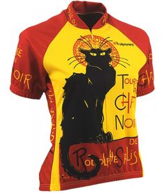 Buy Retro Image Cycling Jersey - Chat Noir - Womens d9f24d303