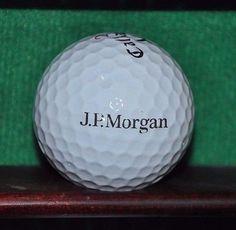 J.P. Morgan Bank logo golf ball. Callaway Tour