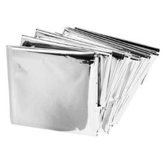 Emergency Mylar Blankets - 84 x 52 (4 Pack) : Amazon.com : Sports & Outdoors. Has many uses: shelter, warmth (blanket), catch & hold water, reflect heat from a fire & highly visible for rescue. Careful, will conduct electricity.
