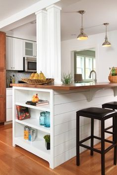 Kitchen Islands With Columns Design Ideas, Pictures, Remodel, and Decor
