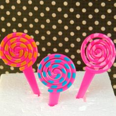 Lollipop Swirl Cupcake Picks – Christy Marie's