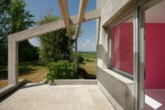 Sun deck and pink room. Pink Room, Sidewalk, Deck, Windows, Interiors, Sun, Outdoor Decor, Home Decor, Decoration Home