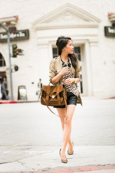 Double Prints :: Leopard silk & Canvas jacket : Wendy's Lookbook