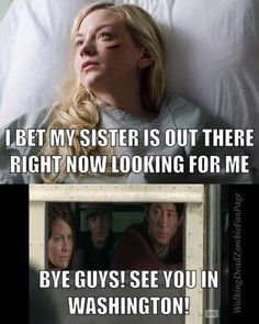 I've tried to defend Maggie up until this point. I don't get why she doesn't seem concerned about her sister. Daryl told her she was alive.