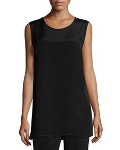 Crepe Tunic/Tank, Black