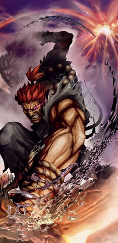 Akuma - Street Fighter Art Print by Maax - X-Small Ryu Street Fighter, Capcom Street Fighter, List Of Characters, Video Game Characters, Art Of Fighting, Fighting Games, Street Fighter Wallpaper, Asesins Creed, Ken Masters