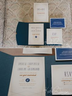 Navy and Gold Wedding Stationery