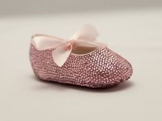 b0c218bd9af2c8 Pink Baby Rhinestone Shoes covered with Swarovski Crystal leather shoe