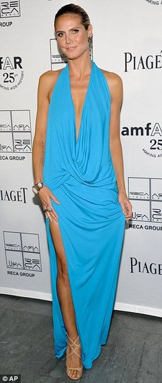 Heidi Klum...I love this dress -- the style and the color!